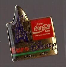 Pin's Disney / Eurodisney / coca cola 12 avril 1992 (signé LTO)