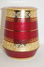 JACOBS KAFFEE runde Blechdose rot gold ornamente Motive Höhe ca 16,0cm