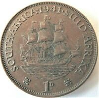 1941 SOUTH AFRICA, GEORGE VI,  Penny grading VERY FINE.
