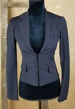 Celyn b. women 4us/40 Italian fitted jacket hooks closer mesh back Italy black