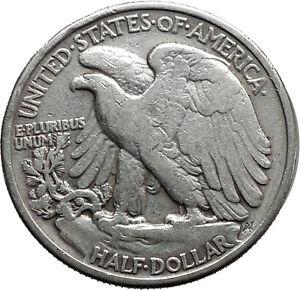 1943 WALKING LIBERTY Half Dollar Bald Eagle United States Silver Coin i44696