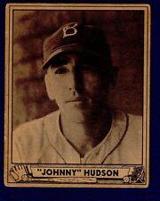 Johnny Hudson 1940 Play Ball #147 Brooklyn Dodgers Ex 16114