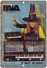 "PAIA Electronics Electronic Shynthesizer Vintage Ad 10"" x 7"" Metal Sign E26"