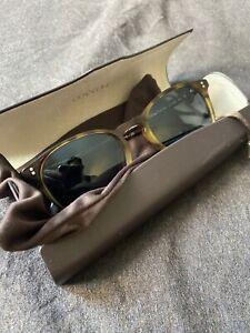 Oliver Peoples OV 5298 SU 1409R8 Finley ESQ Brown Tortoise Sunglasses - MINT