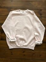 River Island Mens Sweatshirt Size Medium Pink Roll Back Cuffs Loose Fit