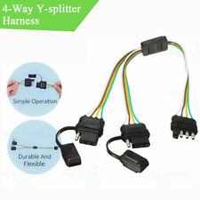 4-pin 1x  Male 2x Female Connectors Y-splitter Adapter Waterproof For Trailer