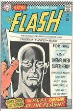 DC COMICS The Flash #167 12c cover.  Feb. 1967 FN- The Real Origin of the Flash