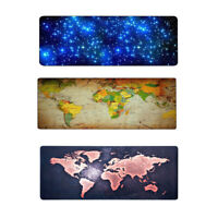 Gaming Mouse Mat Pad Non-Slip Rectangle Keyboard Mousepad For Computer PC Desk