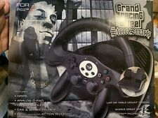 Grand Racing Wheel Street Smarts For Playstation 2 Ps2 Untested Rare