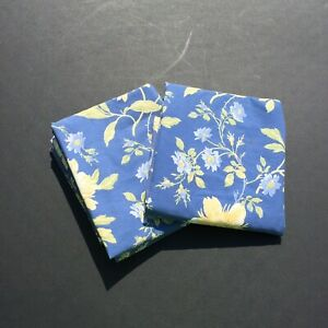 """2 King Sized Pillow Shams Emilie Rose Laura Ashley Blue Yellow Floral 26"""" x 31"""""""
