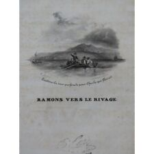 Panseron Auguste Rowing to the Shore Singer Piano Ca1830 Sheet Music