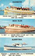 Clearwater Beach Florida Fishing Boat Multiview Vintage Postcard K69501