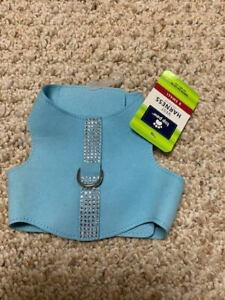 NWT Butterfly Harness - Light Blue w/Bling - Top Paw - XS