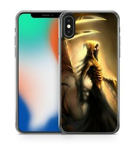 Painted Spooky Terrifying Grim Reaper Ready To Collect Souls Soft Gel Phone Case
