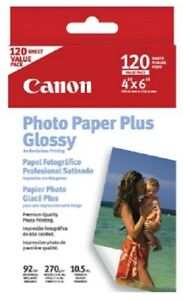 "CANON PHOTO PAPER PLUS GLOSSY 120 Sheets 4"" x 6"""