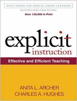 What Works for Special-Needs Learners: Explicit Instruction : Effective and...