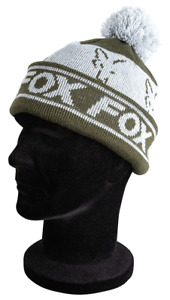 Fox Green Silver Bobble Hat Fishing tackle