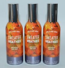 3 BATH & BODY WORKS SWEATER WEATHER CONCENTRATED ROOM SPRAY MIST SPRAY PERFUME
