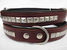 LEDER HALSBAND , Hundehalsband, Halsumfang 53-64 cm, Braun,  Leder, (PL 27.5)