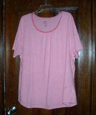NEW!!  JUST MY SIZE SHORT SLEEVE TOP WOMENS SIZE 4X (26W-28W)