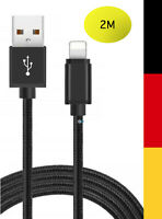 2x2m Orginal Lightning Ladekabel für Apple iPhone 5 6 7 8 Plus X Xs schnell USB