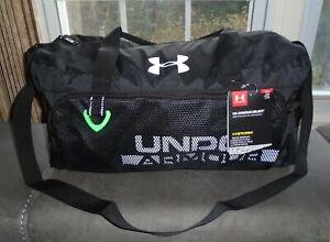 Under Armour Duffel Bag Water Resistant Boys Select Duffel Black Green NWT