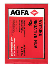 AGFA 4 x 5 inсh sheet film. LF ortho B/W continious tone negative. AVITONE p3p