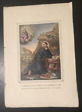 Grabado de San Ignacio de Loyola Andachtsbilt Santini Holy Card