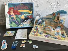 Rare Vintage MB milton Bradley THE LITTLE MERMAID 3D BOARD GAME 100% COMPLETE