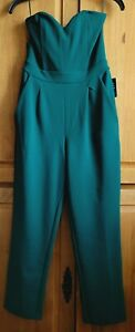 EXPRESS STRAPLESS JUMPSUIT GREEN SIZE 2 NWT