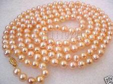 7-8mm rosa Süßwasser Perlenkette 127cm