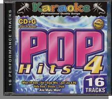 Karaoke CD+G - Pop Hits 4 - New 16 Song CD! Game of Love, All My Life, Disease