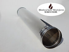 """4"""" (100mm) Stainless Steel flue Wood stove/ oven/ heater- 1M (995mm) length"""