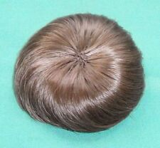 """doll wig light brown 6.5"""" to 7.5"""" short haircut/vintage/"""