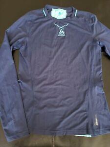 ODLO  Performance Ceramicool  Blue Base Layer Shirt Womens Size Small