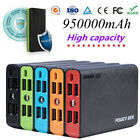 950000mAh Backup External Battery 4 USB Power Bank Pack Charger for Cell Phone