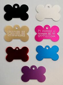 Personalised Pet Id Tag, Dog Identification Tags, Engraved, deep engraving, dog