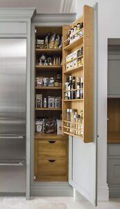 New Wooden Cupboard Kitchen Storage Pantry Spice Rack Door Neptune Larder
