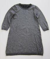 Banana Republic Italian Yarn Silver Metallic Sweater Dress Women's Size Medium
