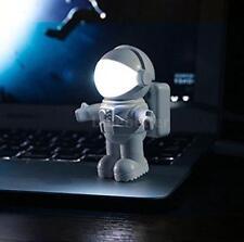 Spaceman Astronaut Mini Bendable LED Night Light Lamp USB Port Light Bulb A8B8