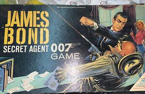 Vintage 1964 James Bond Secret Agent 007 Milton Bradley Board Game Incomplete