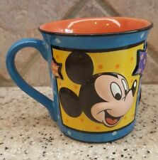 Disney Mickey Mouse 3-D Coffee Cup Mug - Micky with Stars on Yellow and Blue