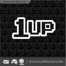 1UP 2X Gaming Sticker Decal 100mm Wide Car Nintendo Playstation 4 X1 Xbox Retro