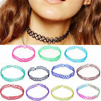 Newly 12Pcs Choker Necklace Set Stretch Velvet Classic Gothic Tattoo Lace Retro