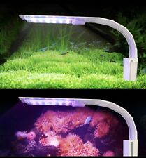 X5Virgo 24Led Aquarium 3Color Light 12W Clip-on Lamp. 10-15inch Fish Tank(white)