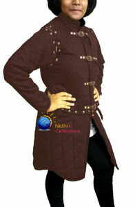 Medieval Gambeson Aketon shirt under armor Female thick padded Costumes dress
