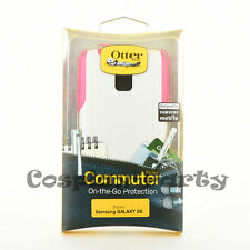 OtterBox Commuter Series Hard Case for Samsung Galaxy S5 White/Pink Neon Rose