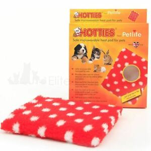 Hotties Microwavable Heat Pad Dogs Cat Rabbit Pets Beds Warmth Stress