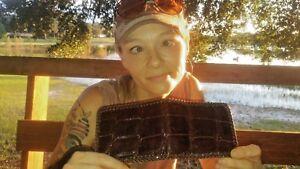 NEW Authentic ALLIGATOR Wallet bi-Fold Men Billfold HIPSTER Original Slim Pocket