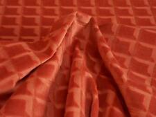 HARLEQUIN RIDGE Design Tangerine Geometric Velvet Upholstery FABRIC By The Metre
